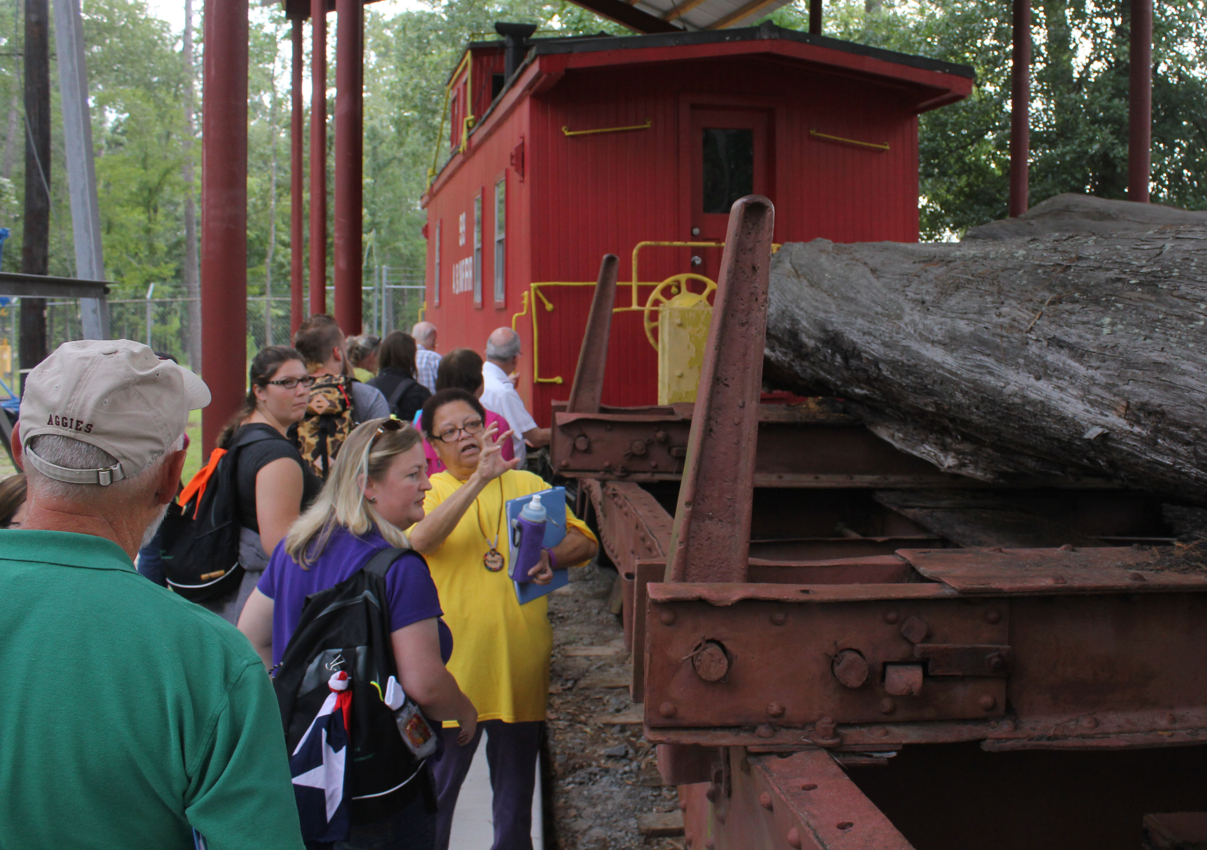 Teachers' Conservation Institute Tours East Texas Timber Industry
