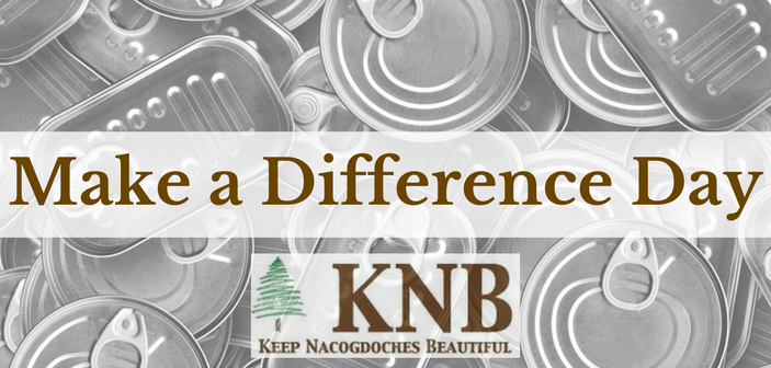 Keep Nacogdoches Beautiful Hosts Make a Difference Day