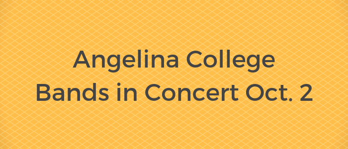 Angelina College Bands in Concert Oct. 2