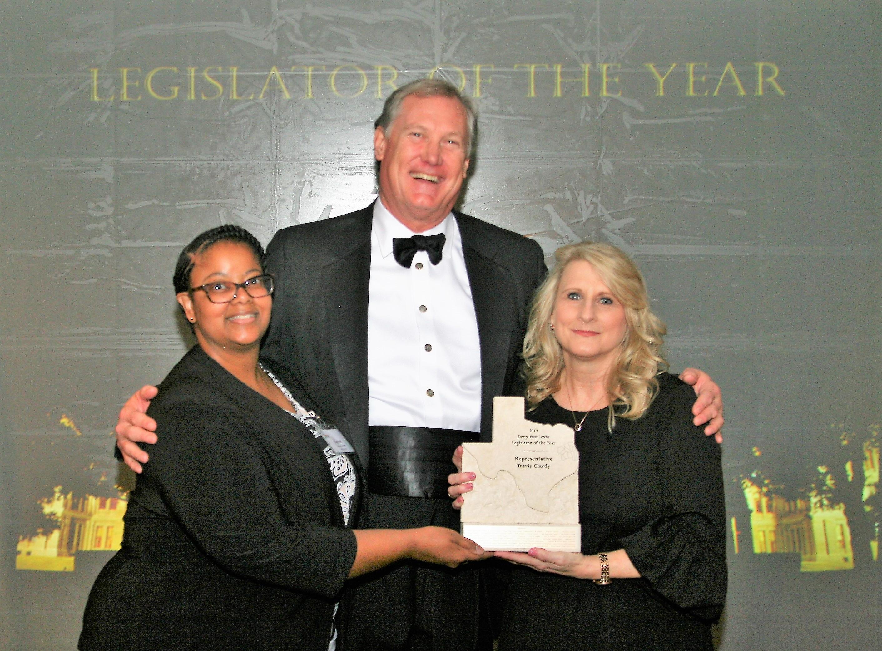 State Representative Travis Clardy Honored as Legislator of the Year at Deep East Texas Reception
