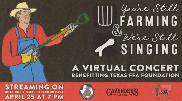 Billy Bob's Texas to Host Free, Donation-Based Virtual Concert to Benefit Texas FFA Foundation