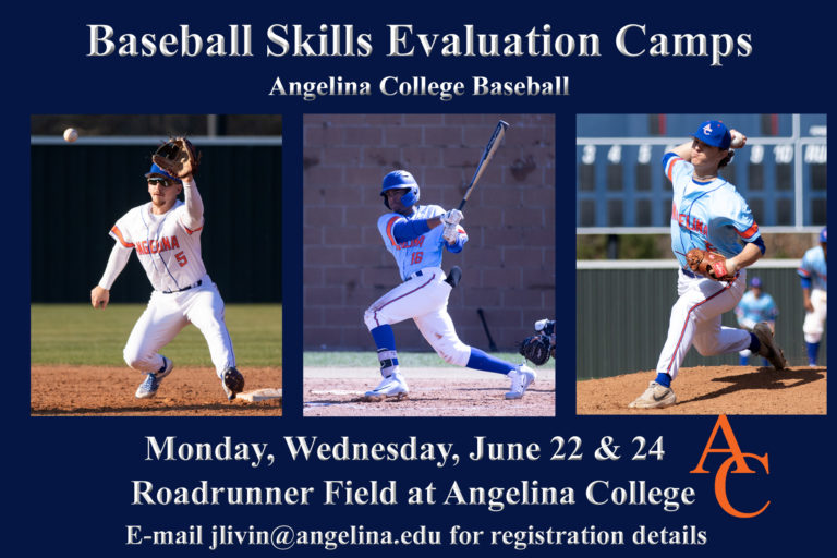 Angelina College Baseball Holding Summer Evaluation Camps  Sessions for Prospective Players Taking Place June 22, 24