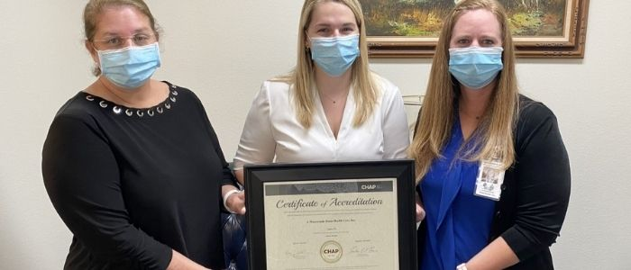 A Pineywoods Home Health Awarded CHAP Accreditation