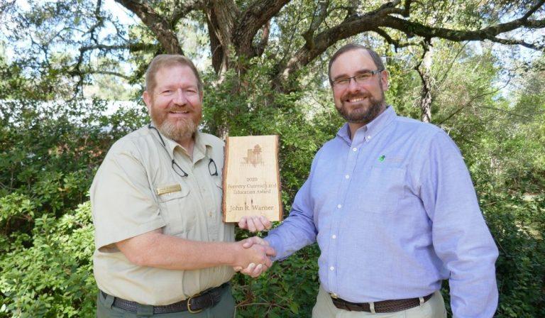 TEXAS FORESTRY ASSOCIATION ANNOUNCES JOHN WARNER AS OUTSTANDING FORESTRY EDUCATOR AWARD RECIPIENT