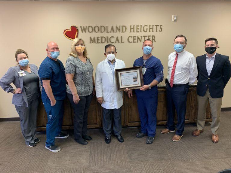 WOODLAND HEIGHTS MEDICAL CENTER AWARDED STROKE GOLD PLUS AWARD
